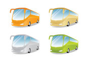 Set of modern buses vector illustration
