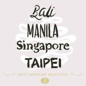 Asian Cities Set- Bali Manila Taipei