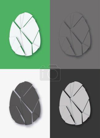 Ilustración de Conjunto de huevo roto - Imagen libre de derechos