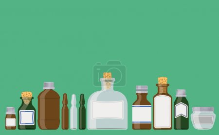 Illustration for Medicine bottles illustration - Royalty Free Image
