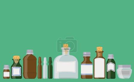 Photo for Medicine bottles illustration - Royalty Free Image