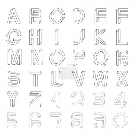 font set including numerals