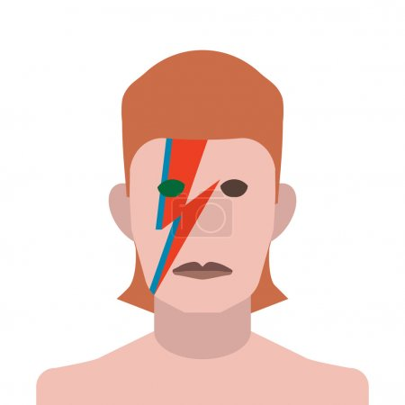 David Bowie vector illustration