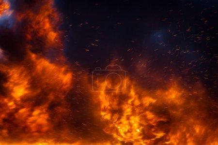 Foto de Muro de fuego - Imagen libre de derechos