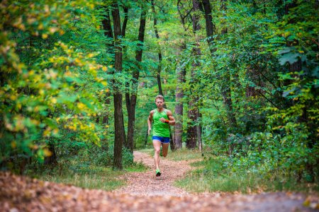 The guy running through the woods