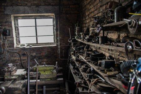 Locksmith's workshop. body shop