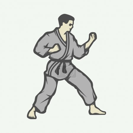 Vintage karate or martial arts logo