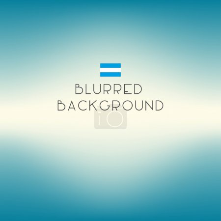 Illustration for Blurred color Argentina flag background. Vector illustration. Eps 10 - Royalty Free Image