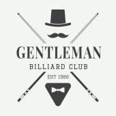 Vintage billiard label emblem and logo