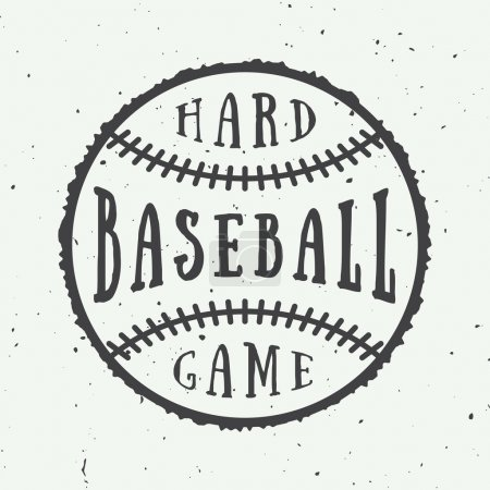 Vintage baseball logo, emblem, badge.