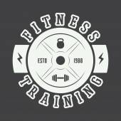 Gym logo in vintage style Vector illustration