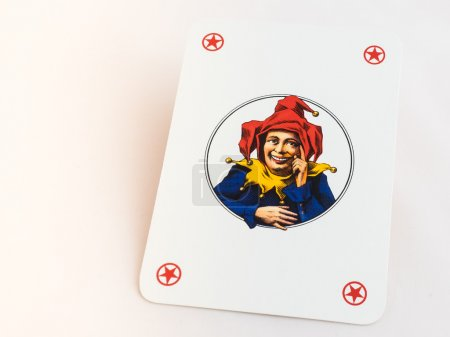 Joker playing cards on white background