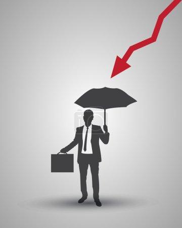 Illustration pour Financement de vecteur d'homme d'affaires - image libre de droit