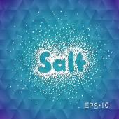 Sea salt sprinkled with the word salt