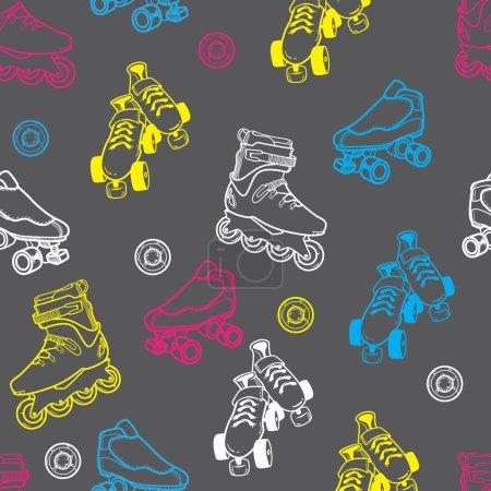 roller skate patron sans couture