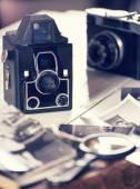 Staré fotoaparáty a fotografie, filtrováno ještě život