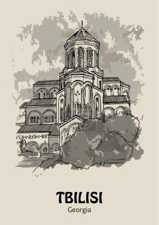 TBILISI, GEORGIA - Tsminda Sameba, Georgian Orthodox Cathedral