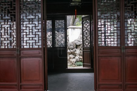 chinese style wood door