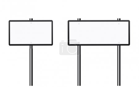 Illustration for Blank road signs set on white background - Royalty Free Image