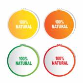 Natural product  stickers set on white