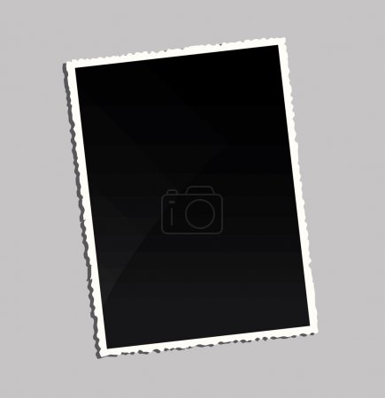 Illustration for Empty vintage photo frame on table - Royalty Free Image