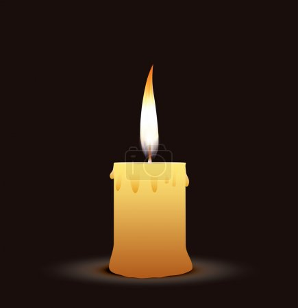 Illustration for Old candle on the black background - Royalty Free Image
