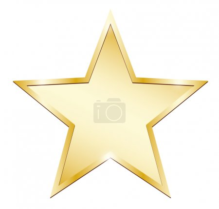gold star on a white