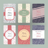 Set of gorgeous cards with hand drawn floral pattern