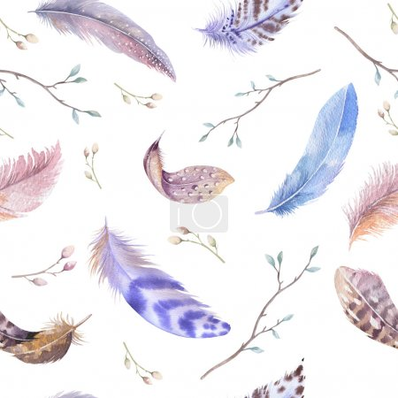 Feathers repeating pattern.