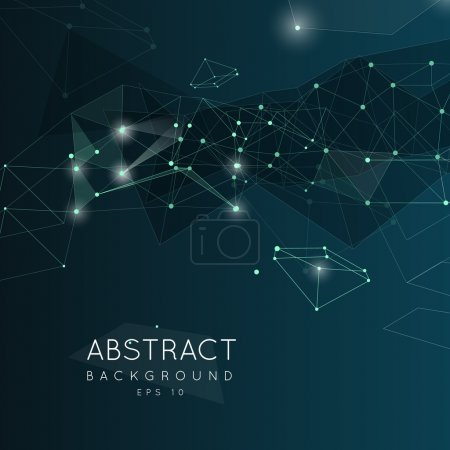 Illustration for Abstract polygonal background. Low poly  design with connecting dots and lines. Connection structure.  Polygonal vector background. Futuristic design. - Royalty Free Image