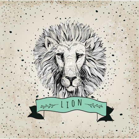 logo with lion head
