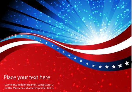 Illustration pour Fond abstrait du drapeau américain, symbole uni - image libre de droit