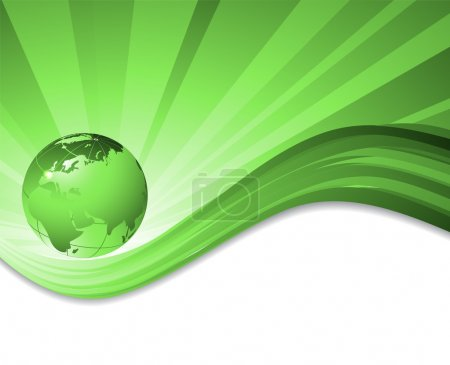 Illustration for Vector environmental background with globe and copy space. Eps10 - Royalty Free Image