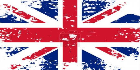 Abstract image of the flag  Great Britain, England