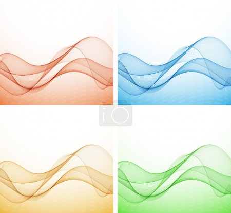 Illustration for Abstract colorful background with wave, illustration, vector - Royalty Free Image