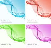 Abstraktní barevné pozadí s vlnou, ilustrace