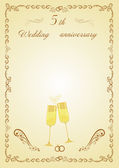 Congratulations on the 5th anniversary of wooden vedding