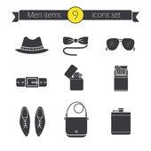 Men's accessories classic icons set