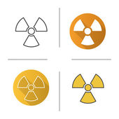 Radiation sign icons