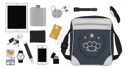 Every day carry man items collection