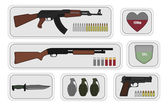 Military weapon pack icons for game
