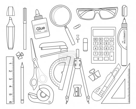 Set of stationery tools