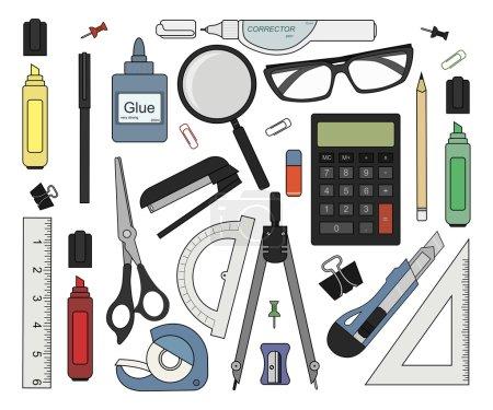 Set of stationery tools