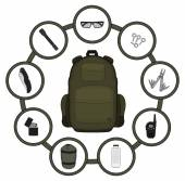 Traveler backpack contents