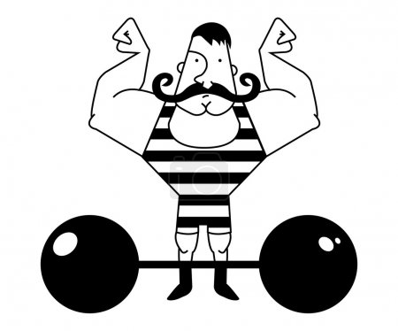 Strong circus athlete