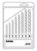 Sharp different sizes drill bits
