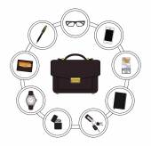 Every day businessman items collection