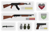 Game resources military weapons icons