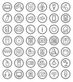 Household linear icons set