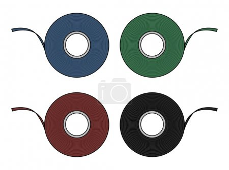 Color insulation of scotch tapes